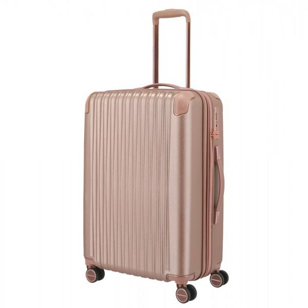 Titan Skořepinový cestovní kufr Barbara Glint M Rose metallic 68/78 l