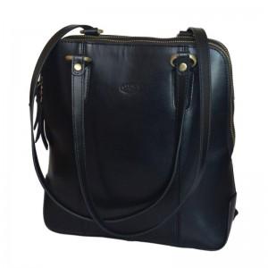 Katana 64206 dámský kožený batůžek 6 l Noir