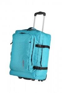 Travelite Cestovní taška na kolečkách Basics Turquoise print 46 l