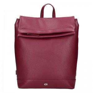 Dámský kožený batoh Daag Marcella – vínová