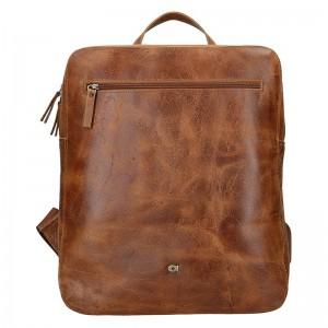 Pánský kožený batoh Daag Lincoln – hnědá