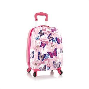 Heys Kids 4w dětský cestovní kufr 46 cm Butterfly