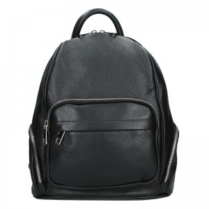 Dámský kožený batoh Delami Elza – černá