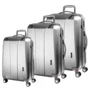March Sada cestovních kufrů New Carat SE S + M + L, stříbrná
