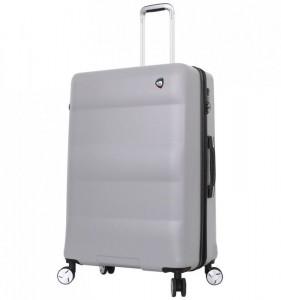 Mia Toro M1703/3-L Ibrido cestovní kufr TSA 79,5 cm 103-129 l Silver