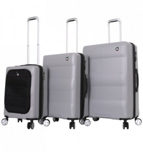 Mia Toro M1703/3 Ibrido sada cestovních kufrů TSA 58/69/79 cm Silver