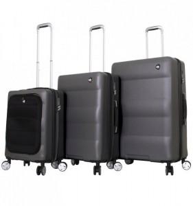 Mia Toro M1703/3 Ibrido sada cestovních kufrů TSA 58/69/79 cm Charcoal