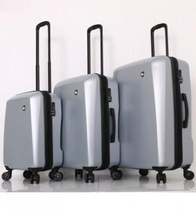 Mia Toro M1713/3 Torino sada cestovních kufrů TSA 58/69/79 cm Silver