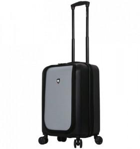 Mia Toro M1709/2-S Carbonio Superior cestovní kufr TSA 58 cm 41-51 l Black/Silver