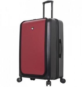 Mia Toro M1709/2-L Carbonio Superior cestovní kufr TSA 78 cm 101-126 l Black/Burgundy
