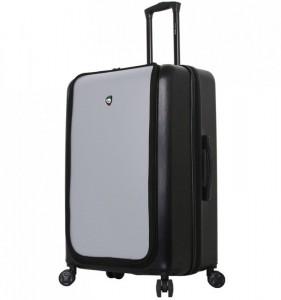 Mia Toro M1709/2-L Carbonio Superior cestovní kufr TSA 78 cm 101-126 l Black/Silver