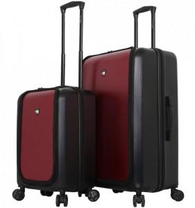 Mia Toro M1709/2 Carbonio Superior sada cestovních kufrů TSA 58/78 cm Black/Burgundy