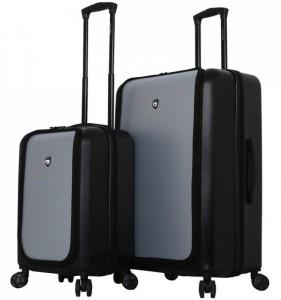 Mia Toro M1709/2 Carbonio Superior sada cestovních kufrů TSA 58/78 cm Black/Silver