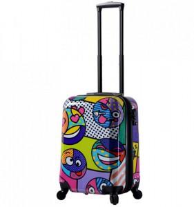 Mia Toro M1311/3-S Emojis palubní kufr TSA 55 cm 39-49 l