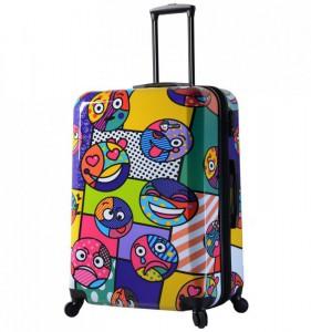 Mia Toro M1311/3-L Emojis cestovní kufr TSA 74 cm 98-123 l