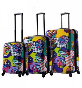 Mia Toro M1311/3 Emojis sada cestovních kufrů TSA 55/64/74 cm