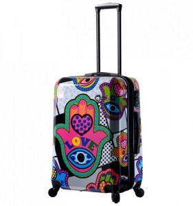 Mia Toro M1312/3-M Hamsa Love cestovní kufr TSA 64 cm 62-78 l