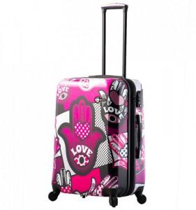 Mia Toro M1314/3-M Hamsa Love cestovní kufr TSA 64 cm 62-78 l Monochrome