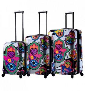 Mia Toro M1312/3 Hamsa Love sada cestovních kufrů TSA 55/64/74 cm
