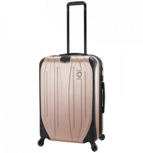 Mia Toro M1525/3-M Ferro cestovní kufr TSA 65,5 cm 62-78 l Champagne