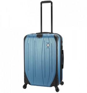 Mia Toro M1525/3-M Ferro cestovní kufr TSA 65,5 cm 62-78 l Slate Blue