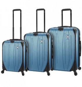Mia Toro M1525/3 Ferro sada cestovních kufrů TSA 54/65/75 cm Slate Blue