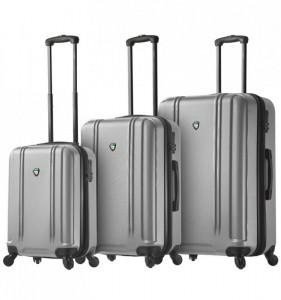 Mia Toro M1210/3 Baggi sada cestovních kufrů TSA 55/67/77 cm Silver
