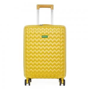 United Colors of Benetton Kabinový cestovní kufr KNIT 35 l – žlutá
