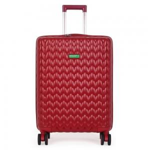 United Colors of Benetton Skořepinový cestovní kufr KNIT Medium 60 l – červená