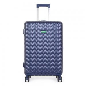 United Colors of Benetton Skořepinový cestovní kufr KNIT Medium 60 l – tmavě modrá