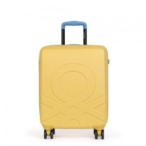 United Colors of Benetton Kabinový cestovní kufr ULTRA LOGO 35 l – žlutá