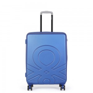 United Colors of Benetton Kabinový cestovní kufr ULTRA LOGO 35 l – modrá