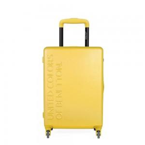 United Colors of Benetton Kabinový cestovní kufr UCB 35 l – žlutá