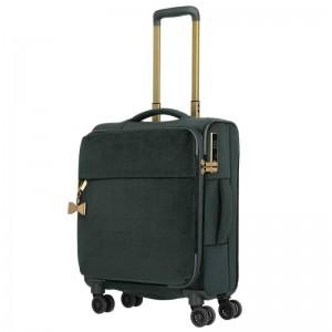 Titan Barbara Velvet S dámský cestovní kufr TSA 55x40x20 cm Forest Green