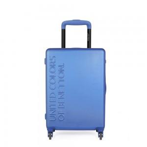 United Colors of Benetton Kabinový cestovní kufr UCB 35 l – modrá