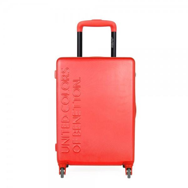 United Colors of Benetton Kabinový cestovní kufr UCB 35 l – červená