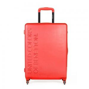 United Colors of Benetton Skořepinový cestovní kufr UCB Medium 60 l – červená