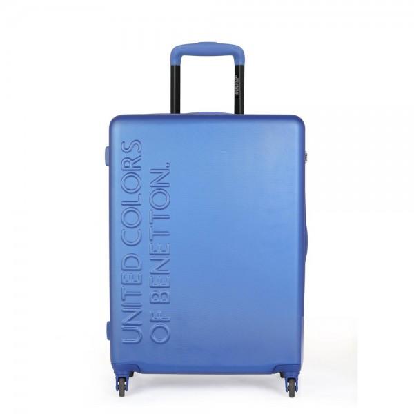 United Colors of Benetton Skořepinový cestovní kufr UCB Medium 60 l – modrá