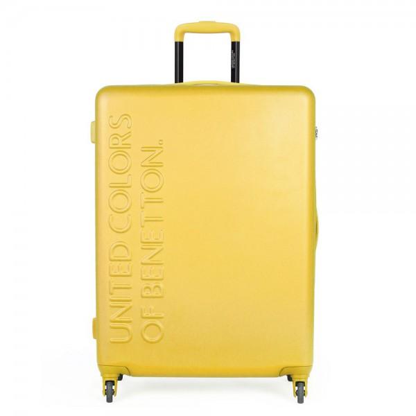 United Colors of Benetton Skořepinový cestovní kufr UCB Large 100 l – žlutá