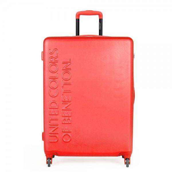 United Colors of Benetton Skořepinový cestovní kufr UCB Large 100 l – červená