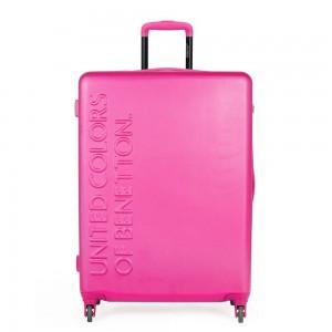 United Colors of Benetton Skořepinový cestovní kufr UCB Large 100 l – růžová