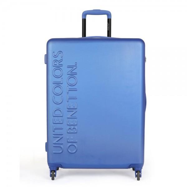 United Colors of Benetton Skořepinový cestovní kufr UCB Large 100 l – modrá