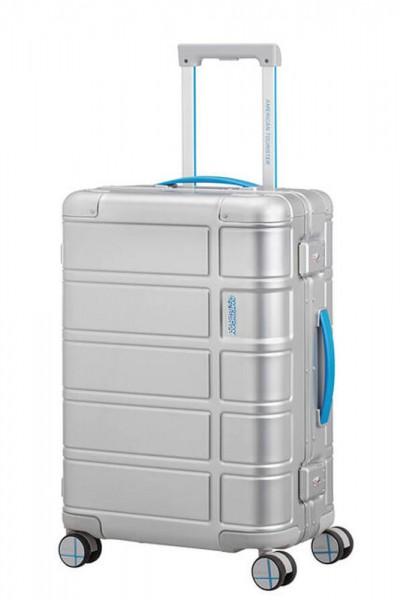 American Tourister Kabinový cestovní kufr Alumo Spinner Neon 34 l – modrá