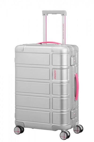 American Tourister Kabinový cestovní kufr Alumo Spinner Neon 34 l – růžová