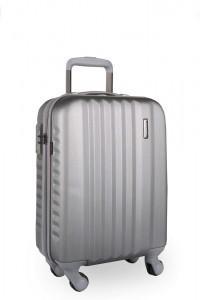 March Kabinový cestovní kufr S Ribbon SE 34,5 l – stříbrná