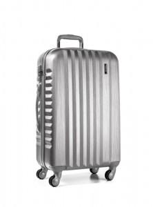 March Skořepinový cestovní kufr M Ribbon SE 61,5 l – stříbrná
