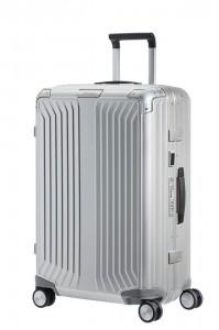 Samsonite Hliníkový cestovní kufr Lite-Box Alu M 71 l – stříbrná