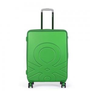 United Colors of Benetton Kabinový cestovní kufr ULTRA LOGO 35 l – zelená