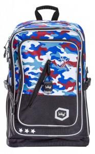 BAAGL Školní batoh Cubic Army 29 l