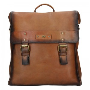 Pánský kožený batoh Daag Boels – hnědá